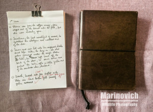 """notepad for writing - marinovich photography"""